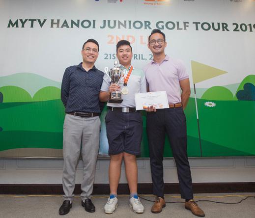Vòng 2 giải MyTV Hanoi Junior Golf Tour 2019 diễn ra đầy sôi động, Nguyễn Đặng Minh lên ngôi vô địch