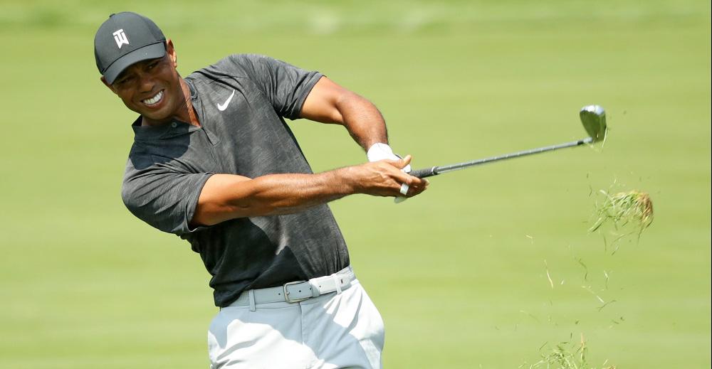Tiger Woods có 2 birdie, 2 bogey ở ngày mở màn giải The Northern Trust