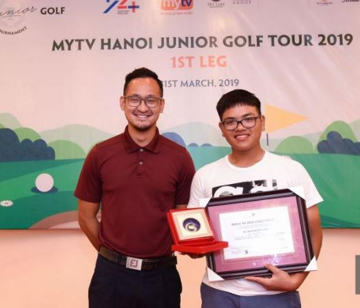 Nguyễn Bảo Long vừa đạt Best Gross và Hole in One vòng 1 giải MyTV Hanoi Junior Golf Tour
