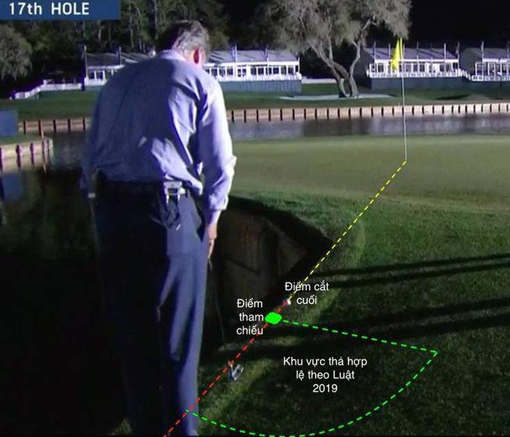 Tiger Woods đã có thể tiết kiệm ít nhất 2 gậy nếu biết tận dụng qui trình giải thoát của Luật 2019.