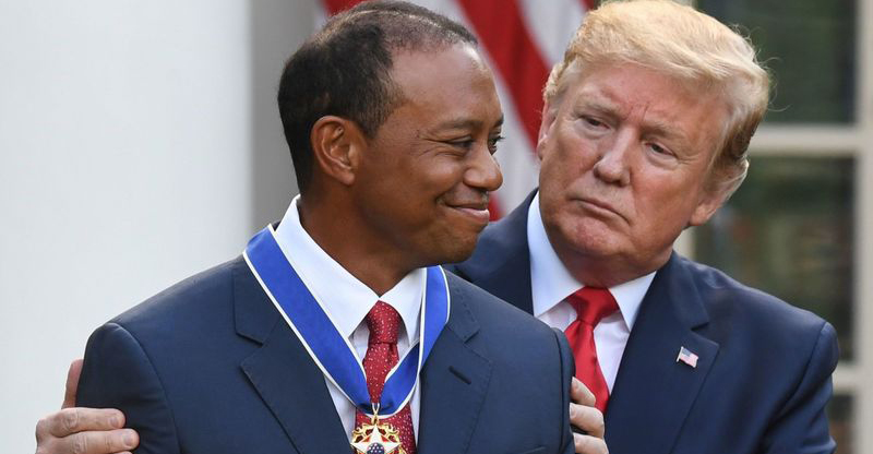 Tổng thống Trump nhắc đến chiến tranh Việt Nam trong lễ trao huân chương Tự Do cho Tiger Woods